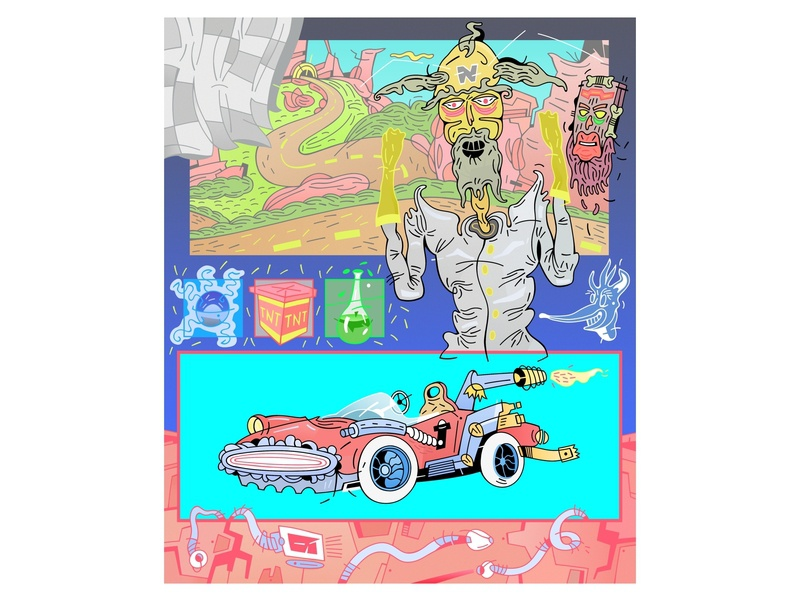 crash team racing game art logo playstation crash bandicoot rainca illustration draw
