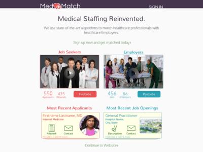MedMatch Landing Page