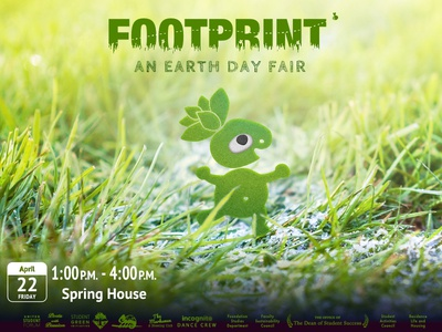 "Poster for ""Footprint: An Earth Day Fair"""