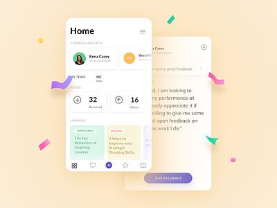 Exchange transparent feedback! feedback app simple interface ios design ux ui clean