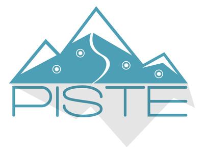Piste Ski App Logo brand sports concept ski ski app piste logo