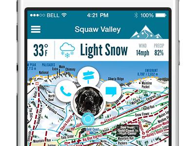 Piste GPS Mobile App gps concept ski app ski mobile
