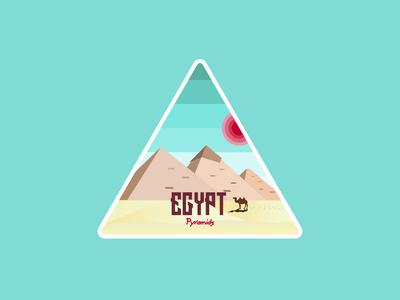 Egyptianian Pyrimids Illustration