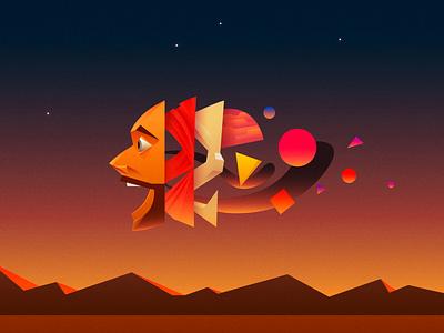 Face Off illustrator vector character 2d illustration