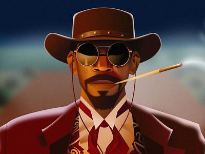Django vector character 2d illustration