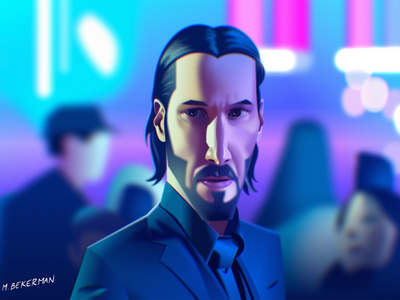 John Wick - Figma illustration vector character 2d illustration