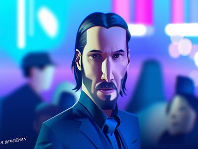 John Wick - Figma illustration vector character 2d illustration