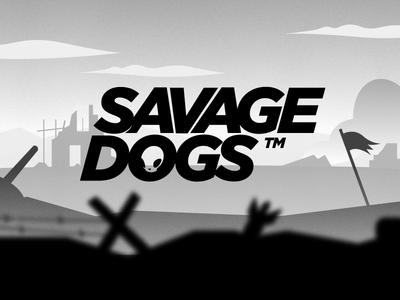 Savage Dogs key art illustration branding logo