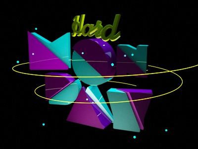 Monday monday text 3d cinema 4d