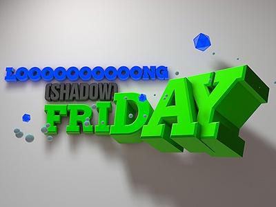 Friday (finally) :D friday c4d long shadow cinema 4d atwork typography 3d
