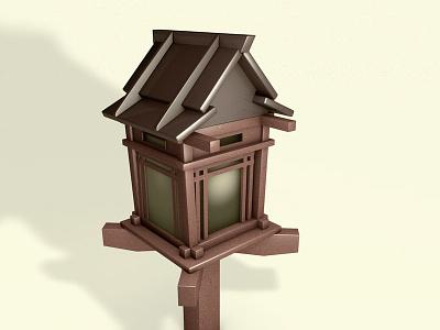 Lantern light occlusion materials wood lantern 3d cinema4d