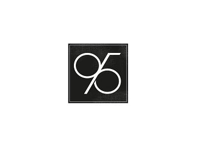 95% logo mark black 95 number