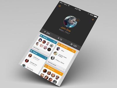 Profile ios7 profile iphone app orange blu