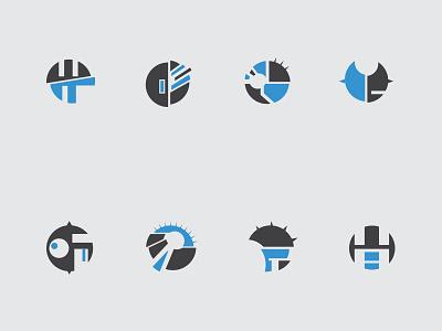 Sci-fi Badge sci-fi icon vector blue gray