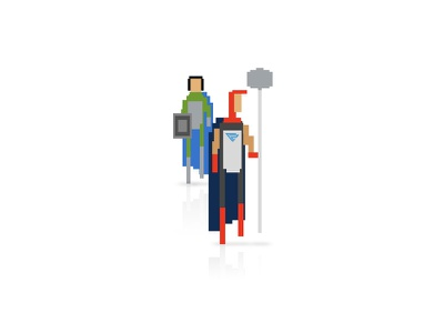Agents character pixel creative red