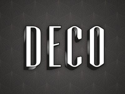 Deco art deco retro font typography