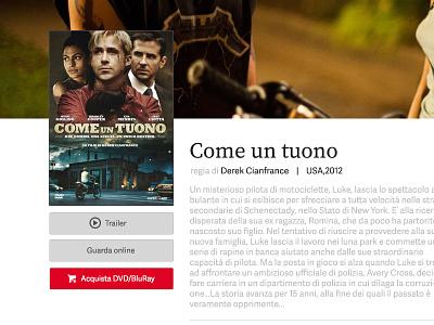 Movie page website layout movie ui shop film