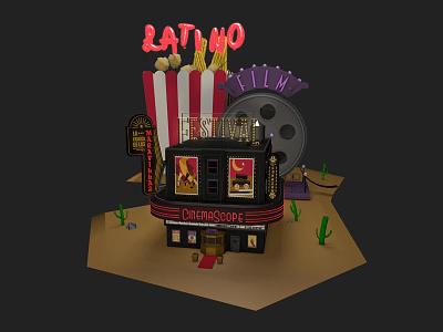 Latino Film Festival 3d popcorn cactus movie film festival latino