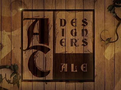 A Designer's Tale illustration logo wordmark lettering wood freelance freelancing medium