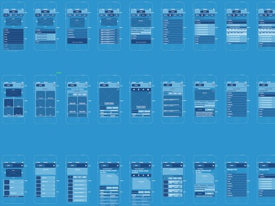 Mobile Wires wireframes wires iphone ios ios7 blueprint ai illustrator website ui