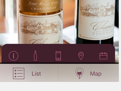 Tab ios button tabs map app sketch navigation icons wine