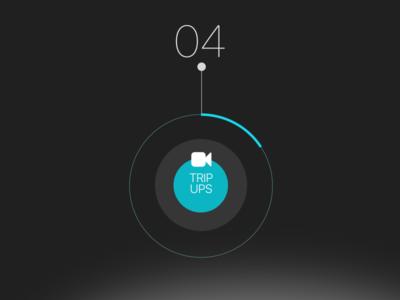 Video Trip button circles icon app ios sketch