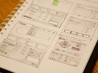 Homepage & Content Sketches