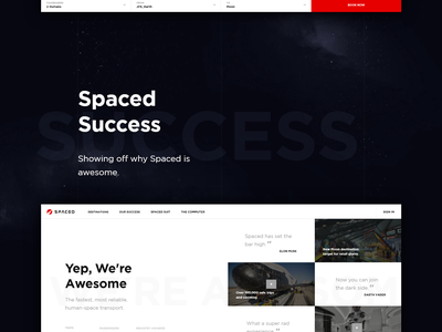 SPACED Updates webflow ux ui flow animation travel spacex spacedchallenge booking spaced