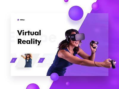 Virtua - Excercise 01 - Freebie adobe xd xd experimental oculus ui landing download freebie virtual reality vr virtual