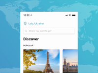 Travel application concept