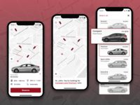 Car sharing application concept