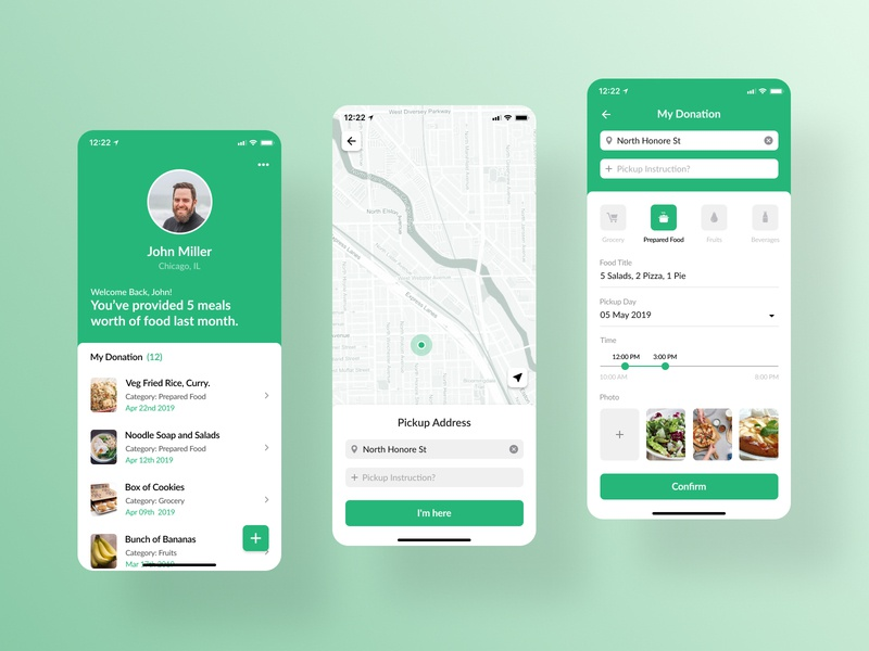 Food donation app inspiration food app food map ui mobile app ui iphone x app design figma ios app