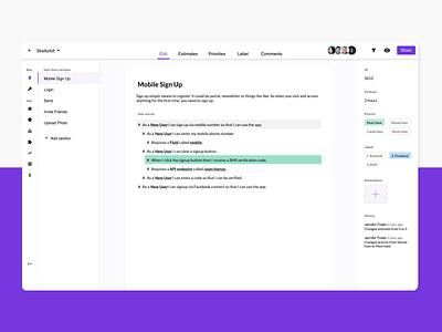 Rapid scoper - New scoping document aftereffects navigation editor ux animation product design protopie saas app saas design saas app figma