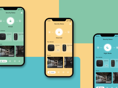 AJAX Systems - redesign concept smart home app smart home ajax surveillance video streaming internet of things iot security app iphone x product design ios app ui figma