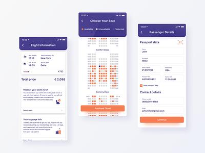 Book a flight mobile app design payment qatar flight flight booking booking transportation product design figma iphone x ios app app ui