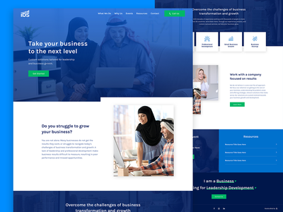 Ideal Business Solutions Homepage business consultant leadership homepage web design business