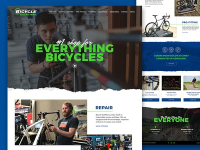 Bicycle Outfitters web design bikes cycling