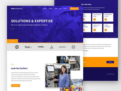 Real Controls ui web design