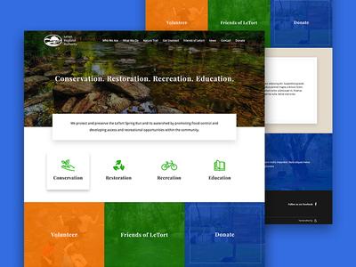 Letort Regional Authority homepage web design