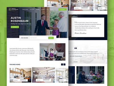 Austin Rosenbaum Realtor realtor homepage web design