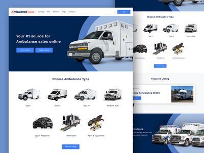Ambulance Sales car sales ambulance web design homepage