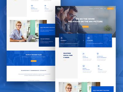 Elect It homepage ui technology i.t. web design