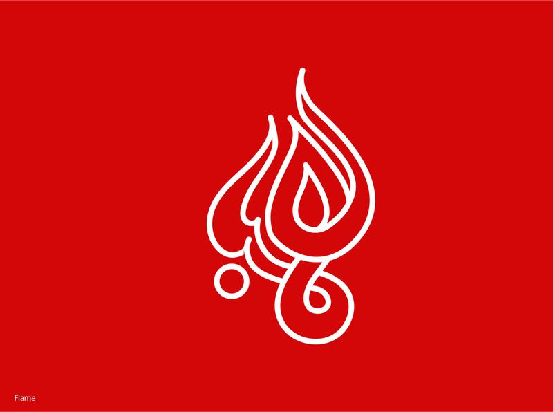 flame sketch vector typography lettering illustration design arabic