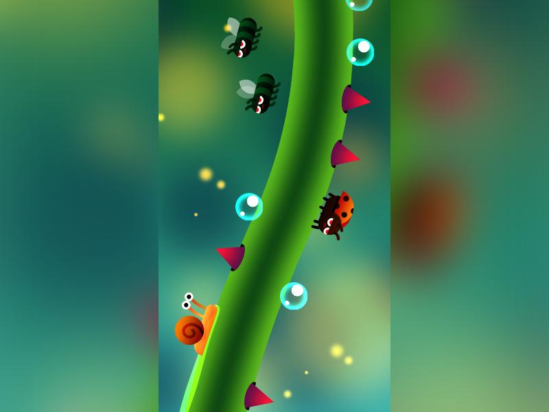 Snail Ride game gradient cute vector snail