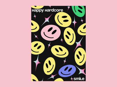 Smile posters brutalism 1990 smile posters education digital illustration art illustrator figma design design illustration art