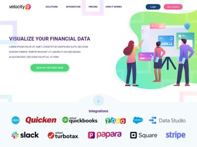 Web UI - Financial Service Landing Page