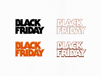 Black Friday concepts corporate holiday typography serif gothic black friday