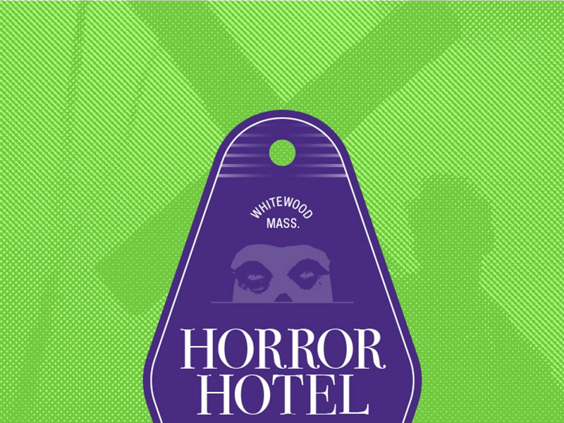 Horror Hotel sticker bodoni horror room 21 hotel room key sticker design typography helvetica fiend club misfits horror hotel
