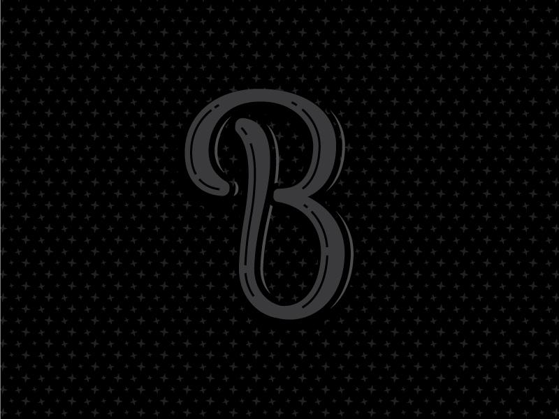 B black sparkles typography b 36 days of type