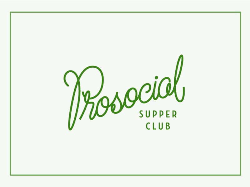Prosocial Supper Club seattle social justice monoline branding supper club supper logo